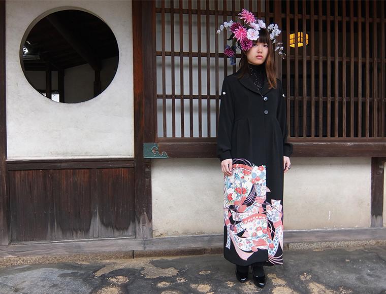 留袖コートドレス